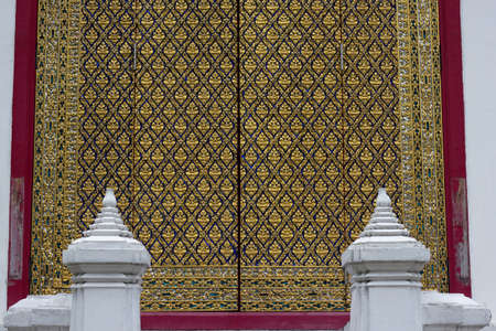 golden temple door in thailand