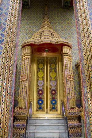 beautiful temple door in thailand