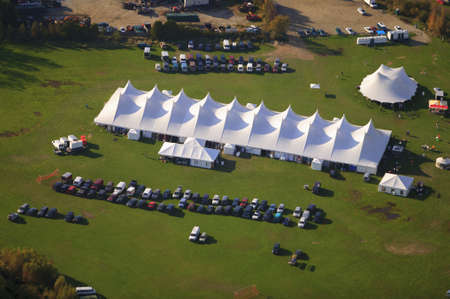 Aerial view of event tens, Stowe, Vermont, USA photo