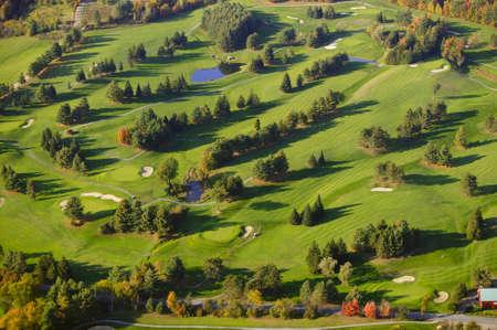 골프 코스의 공중보기, 스토, 버몬트, 미국