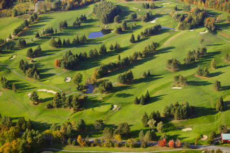 Aerial view of golf course, Stowe, Vermont, USA Imagens