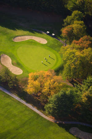 Aerial view of golf course, Stowe, Vermont, USA Reklamní fotografie
