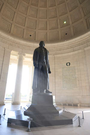Bronze statue of Thomas Jefferson in the Thomas Jefferson Memorial, Washington DC, USA photo