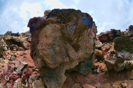 Close up of lava formed on the coastline of Maui, Hawaii, USA