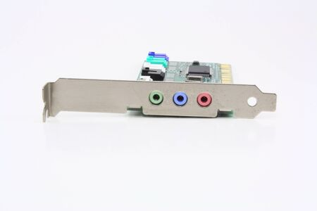 Old Sound Card on a white background