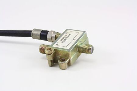 2-way splitter for cabe TV or internet Stock Photo - 10554238