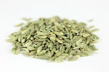fennel seed: Fennel Seed on Isolated Background Stock Photo
