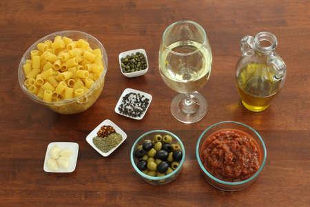 puttanesca: Ingredients for Vegan Pasta Puttanesca