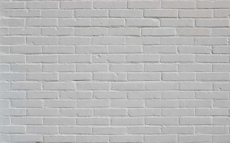 brick wall white background texture, from a new construction