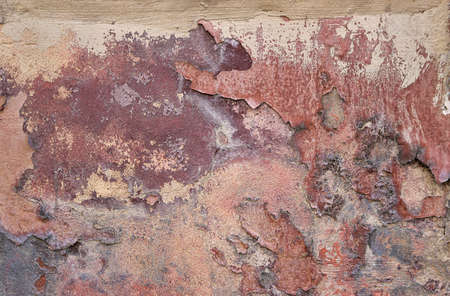 steampunk dirty texture of a wall with orange, red and yellow colors - rough background wallpaper