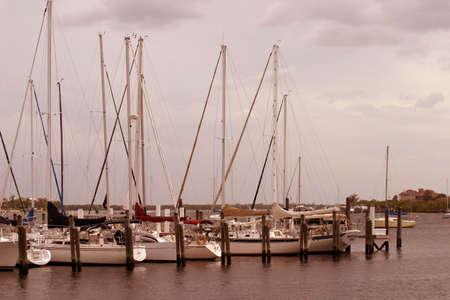 sailboats at marina