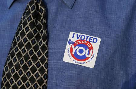 男の投票 写真素材