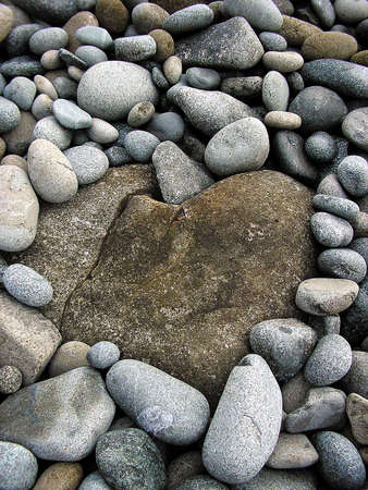 valentine s day beach: Stones by the sea and love sigh