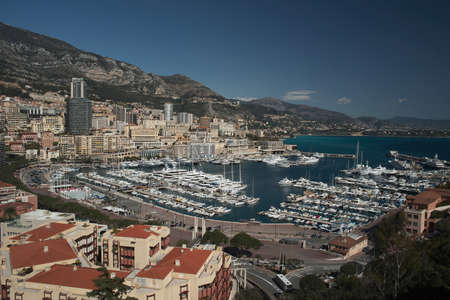 Panoramic view of Monaco photo