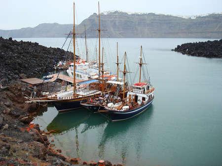 Santorinis port