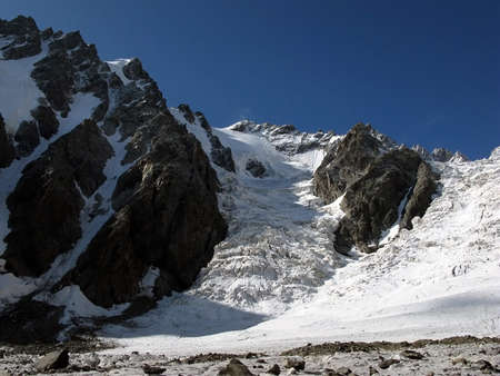 Snowy Caucasus Mountains photo
