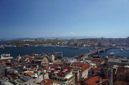 Istanbul view from Galata tower, Istanbul, Turkey. photo