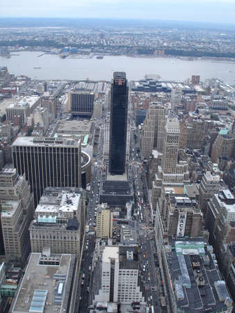 New York City Manhattan skyline panorama aerial view