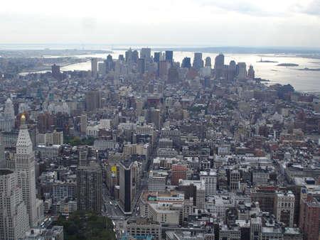 New York City Manhattan skyline panorama aerial view photo