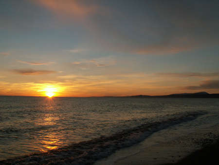 picture of a beautiful sunset on the sea photo