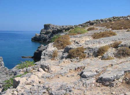 tsambika: fantastic beaches of Greece - on Rhodes island Stock Photo
