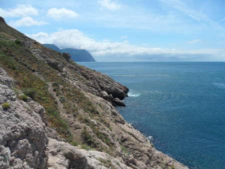 Balaklava town and Bay, Black sea, Crimea, photo