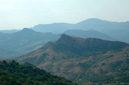 volcano mauntains of Karadag in Crimea. Ukraine photo