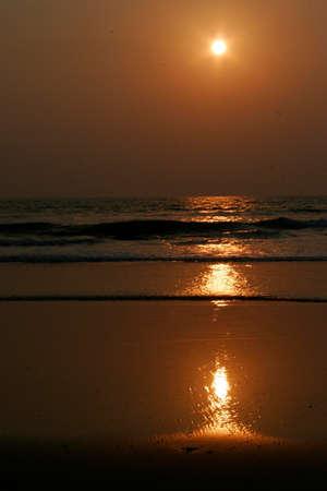 Sunset in Goa, India photo