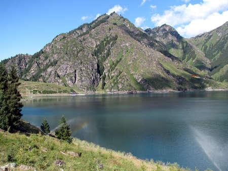 tableland: Tableland lake China Sinjiangs Tianchi  Is tableland lake