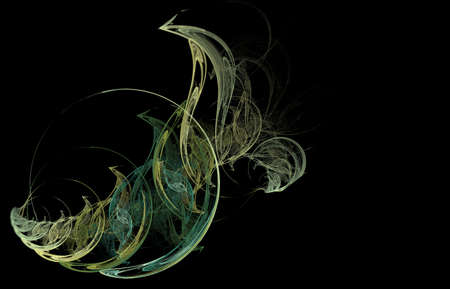 Abstract fractal illustration of a sophisticated spiral