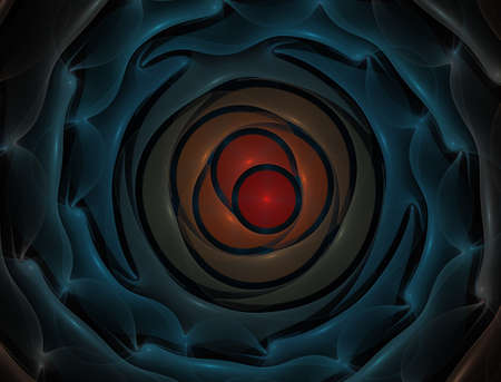 Elementary Particles series. Interplay of abstract fractal forms on the subject of nuclear physics. The collision of elementary particles. Interaction of physical particles. Quantum Vacuum Fluctuations. Higgs boson fractal, computer generated abstract background 版權商用圖片 - 88148679
