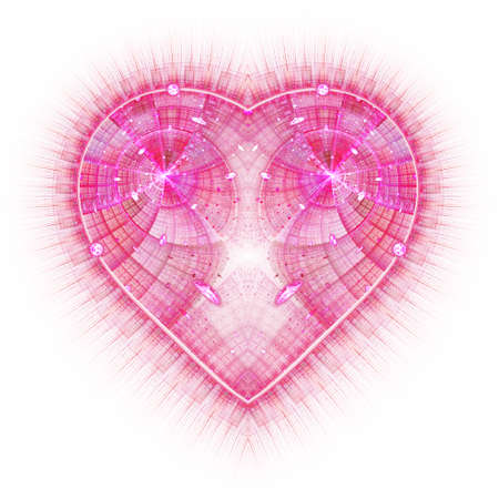 Burning And Beating Heart. Valentine\'s Day Background. An Abstract ...