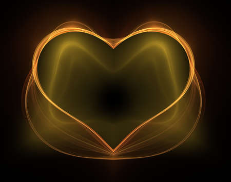 Burning and beating heart. Valentines day background. An abstract computer generated modern fractal design on dark background. Abstract fractal color texture. Digital art. Abstract Form & Colors. Abstract fractal element pattern for your design