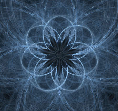 Elementary Particles series. Interplay of abstract fractal forms on the subject of nuclear physics. The collision of elementary particles. Interaction of physical particles. Quantum Vacuum Fluctuations. Higgs boson fractal, computer generated abstract background