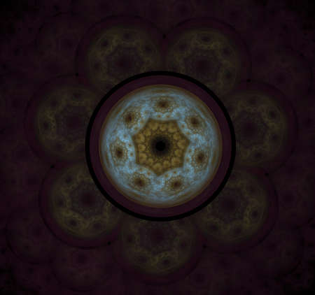 The atomic nucleus. Abstract representation. Elementary Particles series. Interplay of abstract fractal forms on the subject of nuclear physics. The collision of elementary particles. Interaction of physical particles. Quantum Vacuum Fluctuations. Higgs boson fractal, computer generated abstract background