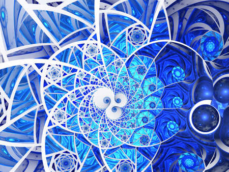 The mosaic composition in Blue tones