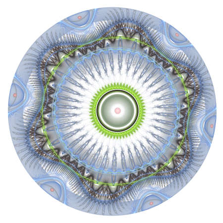 Background design of spherical and circular fractal elements on the subject of abstraction, graphic design and modern technology Stock Photo