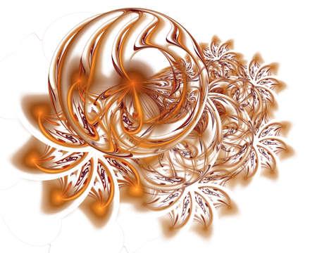 Abstrait décoration de Noël en couleur or. Modèle d'hiver magnifique avec des flocons de neige et des tourbillons. Motif givré sur la fenêtre en hiver. Concept de vacances d'hiver Banque d'images - 92617199