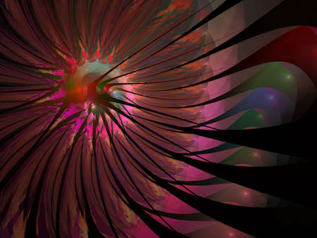 Gentle and soft fractal flowers