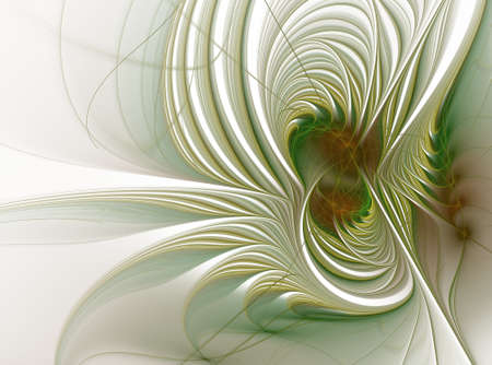 Beautiful fractal floral art. Computer generated graphics. Abstract floral fractal background for art projects Stock Photo