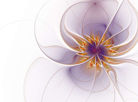Beautiful fractal flower. Computer generated graphics. Abstract floral fractal background for art projects Stock Photo