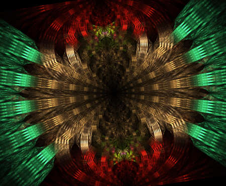 Glowing stargate in space, computer generated abstract background. Galactic lace fractal