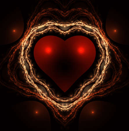 Valentines day background. Hearts for valentine day. Abstract fractal. Decoration for wallpaper desktop, poster, cover booklet, card to valentines day.