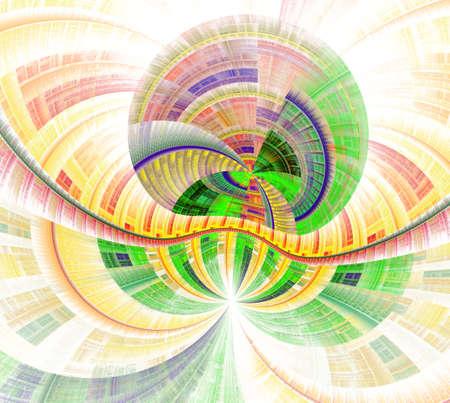 Die Fantasy-Welten von Fraktale . Fraktalbild von magischen Formen und Farben . Wiederholte Linien und Strudel . Illustration der Möglichkeiten der Phantasie . Unglaubliche mathematische Berechnungen Standard-Bild - 94760901
