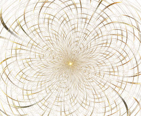 Abstract fractal composition. Magic explosion star with particles, motion illustration.