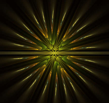 Abstract tube or cylinder space with random rectangular cell lights. Fractal Involute Helix - 3D Rendering illustration image. Radial abstract scintillating circles and particles Stock Photo