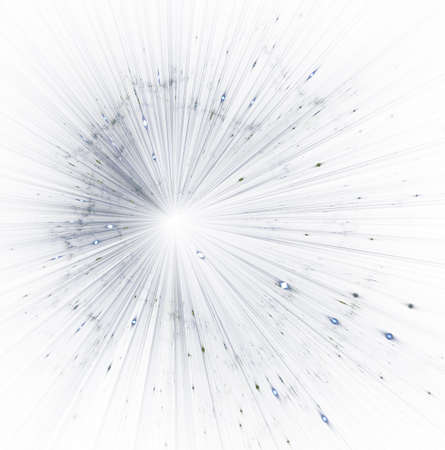 Big bang sparkles. Time warp, traveling in space. Abstract bokeh background. Magic explosion star with particles, gloss and lines. Beautiful illustration