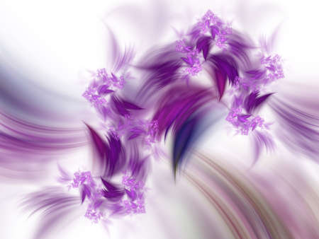 Floral background pattern. Computer generated abstract fractal for cover, compositions, 3d illustration. Perfect Flower decoration for holiday cards and sites, design or birthday. Stock Photo
