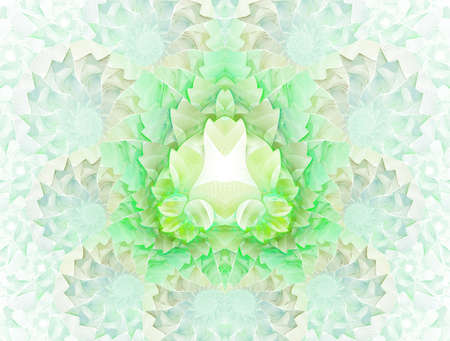 Colorful floral stained glass impression kaleidoscopic design. Beautiful toned mosaic pattern for art background, (fractal church stained glass abstraction)