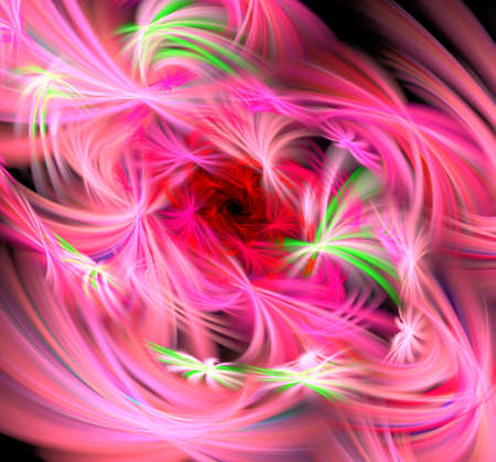 Beautiful fractal flower. Computer generated graphics. Abstract floral fractal background for art projects Stok Fotoğraf